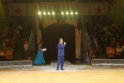 Президент Удмуртской республики А.А.Волков открыл  фестиваль циркового  искусства в Ижевске