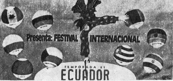 Реклама гастолей международных гастролей в Южной Америке