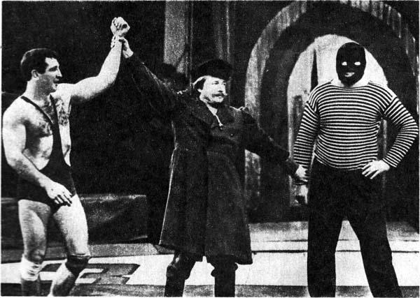 На фото.  B роли Черной маски мастер спорта C. КАРАВАН