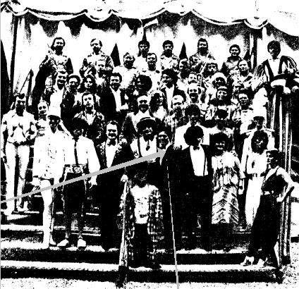 Советские артисты цирка  п/р Е. Майхровского  в цирке Кни 1985 год