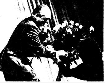 Народный артист РСФСР C. КАШТЕЛЯН, удостоенный диплома первой степени эа постановку номера «Болеро»