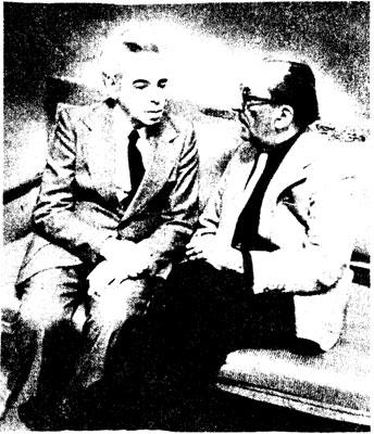 Народные артисты СССР A. РАЙКИН и  Г. ТОВСТОНОГОВ