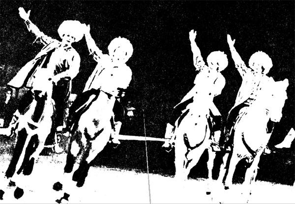 Фрагмент  аттракциона «Эхо Азии» под РУКОВОДСТВОМ Д. ХОДЖАВАЕВА