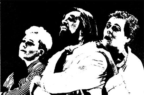 Слева направо: АНН ГЭТАН, ЖОФРУА, ФИЛИПП ЛАФОНТЕН
