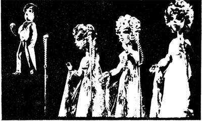Куклы на Международном фестивале песни в г. Сан-Вудузан, происходящий под девизом