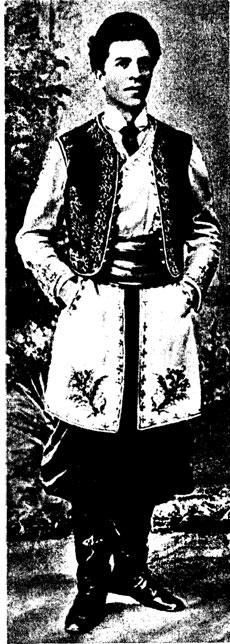 М. ДНЕПРОВ в роли графи Дапило в оперетте «Веселая вдова», Москва, 1908 год.