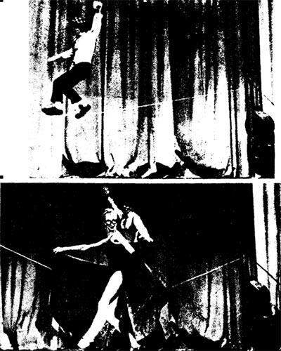 Фрагмент номера Ларисы Абракaровой и Георгия Соловьева