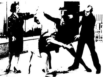Заслуженные аpтисты РСФСР АННА РЕДЕЛЬ и МИХАИЛ ХРУСТАЛЕВ проводят занятия в ВТМЭИ. 1965 год.