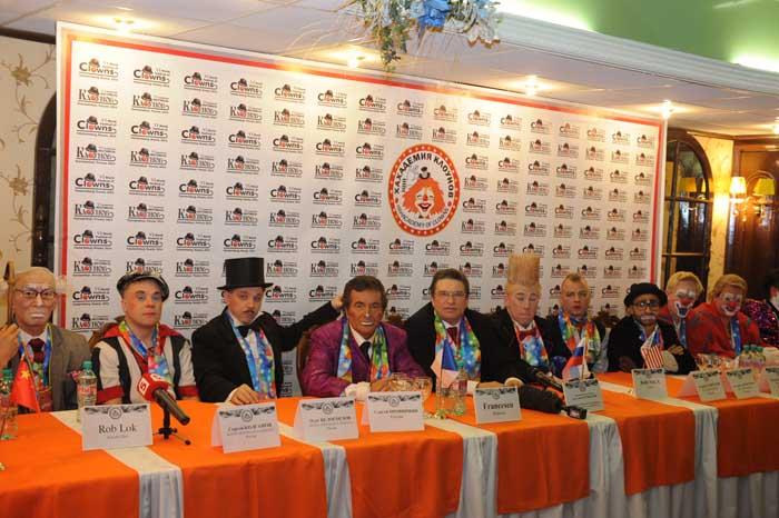 Пресс-конференция, посвященная открытию VI Всемирного фестиваля клоунов