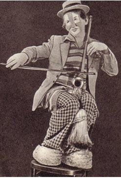 Музыкальный   клоун   Арншт  Янечек.    (Из чешского фотоальбома о цирке).