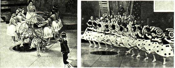 Цирк лилипутов 1963 г. Танец с зонтиками 4. Массовый танец «Укротительница тигров