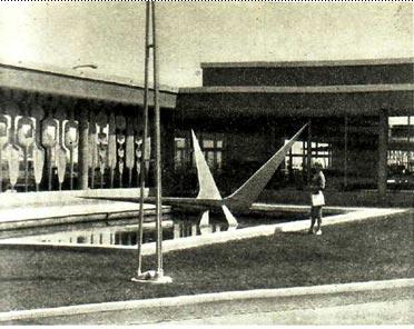 Это сооружение в бассейне напоминает и птицу, и какую-то морскую звезду