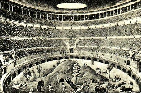 Пантомима на арене Колизея (вариант реконструкции)