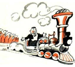 Веселый поезд дуровых. Рисунки В. Гальба