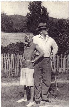 В. В. Маяковский и  А. А. Судакевич.