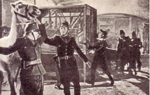 Кадр из фильма ГДР «Тревога в цирке» (1954 г.)