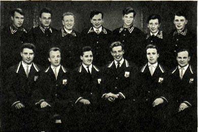 Группа шоферов-униформистов