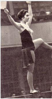 Номер Н. Тепловой — «Танцы  на  проволоке»