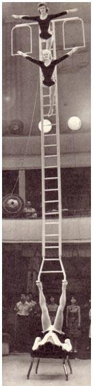 Баланс на лестнице в исполнении В. Агеева, Л. Бонашко и Н. Долговой