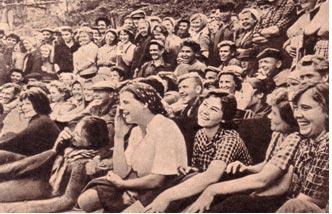 Наши зрители, славные строители Братской ГЭС 1963 г