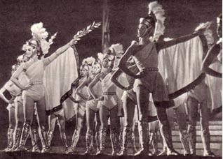 Ансамбль «Радуга» в римской сценке 1963 г