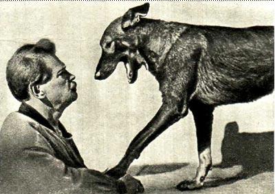 В. Л. Дуров и овчарка Марс
