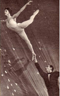Акробатическая пара Е. Евтихован и Н. Фатеев