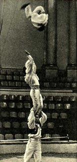 Акробаты-вольтижеры под руководством Ф. Деревянко