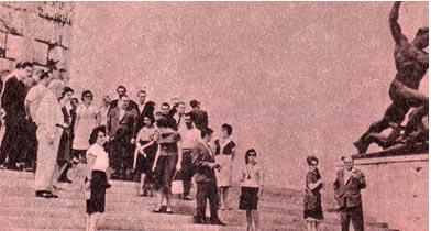Гора Геллерт, обелиск советским воинам.