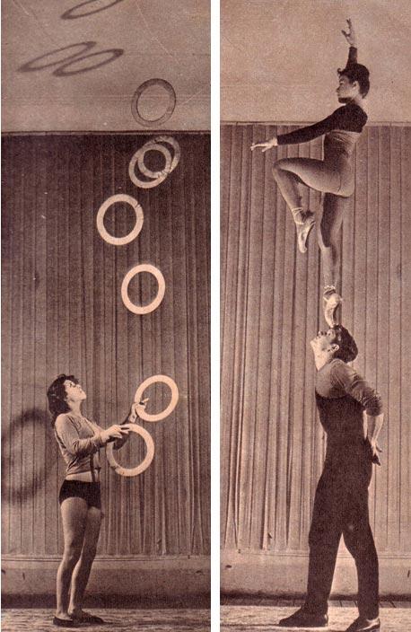 ИДУТ РЕПЕТИЦИИ. В Киевской студии эстрадно-циркового искусства. Фото Б.Минделя