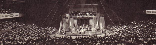 В Токио советские артисты показывали свое искусство в огромном спортивном зале
