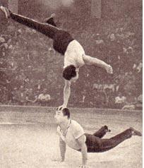 Валентин Васичкин и Геннадий Минасов на арене цирка