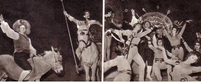 Дон-Кихот и Санча Панса на арене. Сцена из спектакля