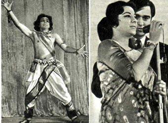 Индийский танец в исполнении ГОПИ КРИШНА Выступают НАРГИС и СУНИЛ ДАТТ
