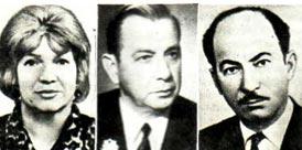 На фото: Зинаида Александровна Тарасова, Владимир Андреевич Цветков, Мансур Ширвани