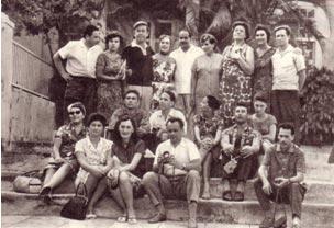 Советские артисты у домика-музея Э. Хемингуэя
