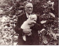 Д. Заславский со своим четвероногим другом