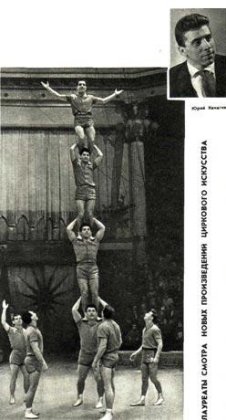Акробаты Канагины. Колонна  из   четырех. Фото Е. САВАЛОВА