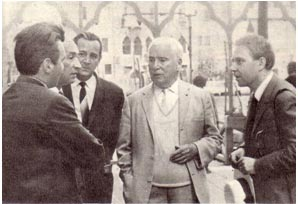 Советские артисты цирка в  гостях у Чаплина О.Попов, В. Филатов