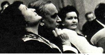 В зрительном зале во время спектакля «Маршал М. Н. Тухачевский»