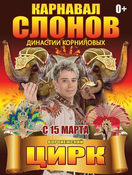 Династия Корниловых представит гостям Воронежского цирка шоу «Карнавал слонов»