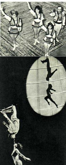 Антиподисты МИКИТЮК закончили свой номер. Воздушные гимнасты  ВАЛЕРИЯ  и ВАЛЕНТИН ЛУНЕГО