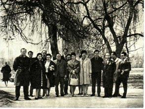 Советские  артисты цирка на прогулке в Болгарии