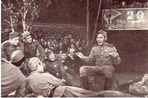 На фото артист В. Николаенко в роли Теркина