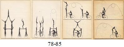 Репертуар акробатов-велофигуристов довольно обширный: сальто с подножек, сальто с руля, сальто с плеч партнера, сальто с четырех рук, акробатические пирамиды