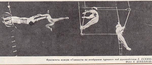 «Гимнасты на воздушном турнике» под руководством Е. Ескина