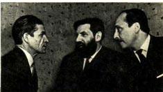 На снимке: слева направо — Л. ОСИНСКИЙ, А. АРОНОВ и В. ВОЛЖАНСКИЙ. Фото С. ВАСИНА