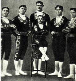 Группа акробатов ВИНКИНЫХ г. Ефремов, 1912 г.