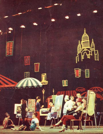 На четвертой странице обложки: сцена из спектакля Московского мюзик-холла «Сто один день в Париже»