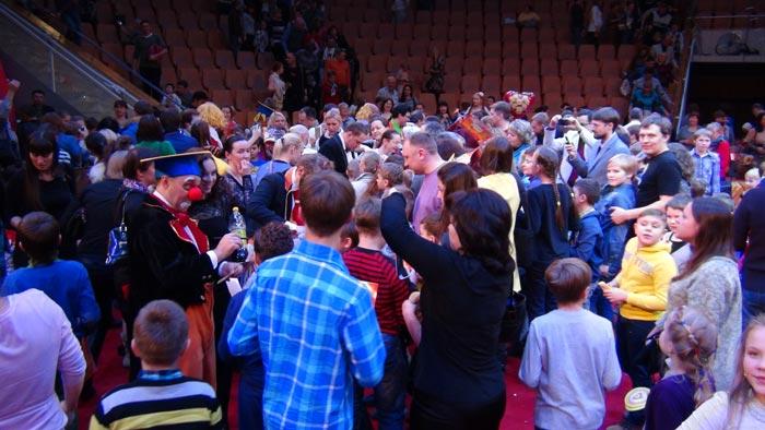 На манеже Екатеринбургского цирка 30 ноября 2014 г. прошло торжественное закрытие VII Всемирного фестиваля клоунов.